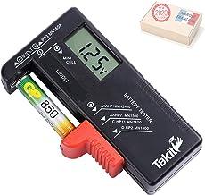 TAKIT Testeur de Piles numérique pour AA, AAA, C, D, PP3, 9V, 1.5V, Piles Bouton - Fonctionne sans Pile - Garantie 5 Ans