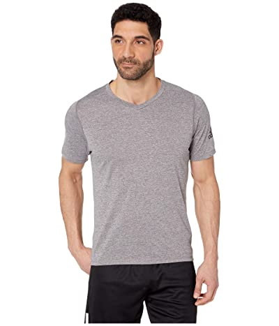 adidas Freelift V-Neck T-Shirt (Grey Four Heather 1) Men