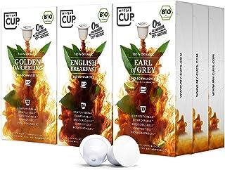 My-TeaCup – SCHWARZTEE-BOX: 9 x 10 KAPSELN BIO-TEE I 3 SORTEN BIO-TEE BIO-SCHWARZTEE I 90 Kapseln für Nespresso-Kapselmaschinen I 100% industriell kompostierbare & nachhaltige Teekapseln – 0% Alu