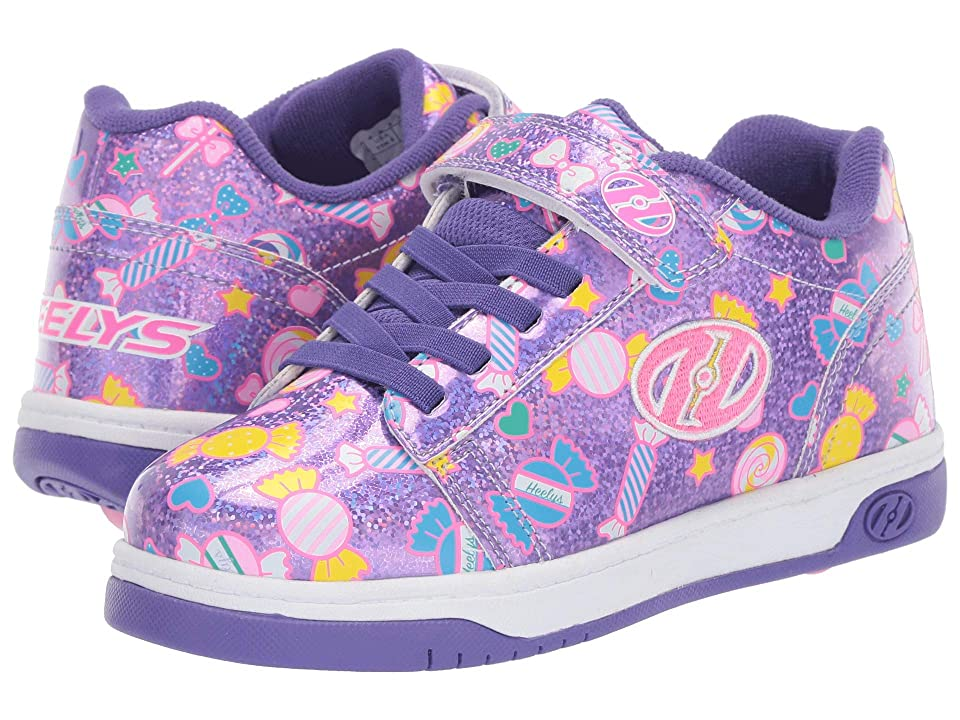 Heelys Dual Up x2 (Little Kid/Big Kid) (Lilac Glitter/Purple/Candy) Girls Shoes