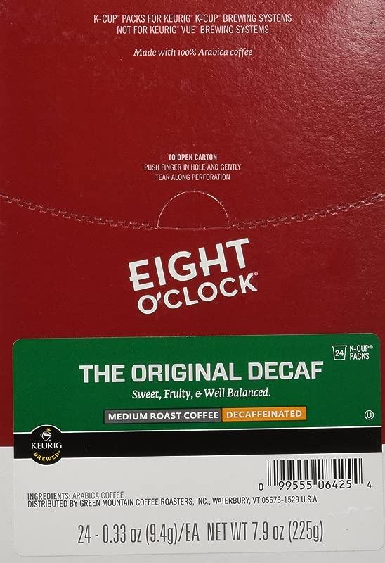 Eight O Clock Original Decaf Coffee K Cup Pods 3 Oz Box Of 24 Pods