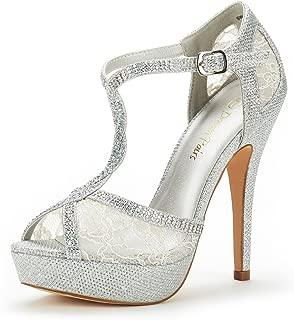 Women's Swan-16 High Heel Fashion Stilettos Peep Toe Pump Heeled Sandals