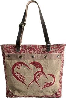 Domelo Tracht Damen Trachtentasche Dirndltasche große Shopper Handtasche Handgelenktasche Vintage Tasche Canvastasche Leder Reisetasche Tote beige Retro Vintage Design Frauentasche Weekender