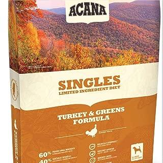 ACANA Turkey & Greens Comida seca para perros 13 Lb. Bolso. con comida fresca para perros sin granos de pavo y verduras verdes de Kentucky