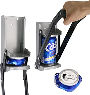 Aynoo 12 oz Can Crusher for recycling/Bottle Opener Smasher, Crushes Soda Cans and Beer Cans Wall Mounted– Eco-Friendly Recycling Tool Heavy Duty Aynoo Metal Can Crusher/Smasher (12oz Grey)