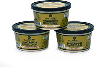 Deli Direct Extra Sharp Cheddar 8oz (10yr aged Natural Spread) 3 Pack