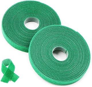 Plantenbinder klittenband groen/plantenhouder/softbinder/boom fixeerband,25 m plantenbinder van weerbestendig & verrotting...