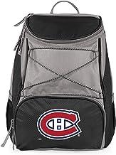 مبرد حقيبة ظهر معزول بشعار فريق مونتريال كندينز PTX من الدوري الوطني للهول، أسود
