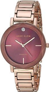 Anne Klein - Reloj de pulsera para mujer con esfera de diamante y lente facetada