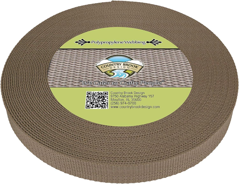 Country Brook Design - 1 Webb Inch New item Polypro Polypropylene Max 54% OFF Heavy