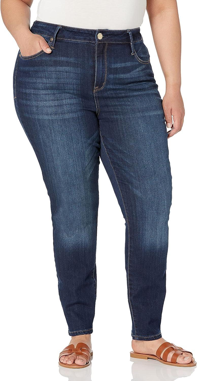 Seven7 Women's Plus Size Ultra High Rise Skinny Coated Jean