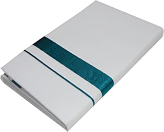 Mcr Cotton Kassavu Double Mundu Dhoti (White, Green)