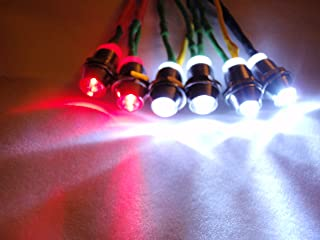 RC LED Lights for Truck, Car, Buggy - 4 white and 2 red 5mm LED lights
