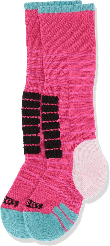 Eurosock Unisex Child Little Kids Supreme Ski Socks, Pink/Jade, Small