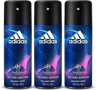 adidas UEFA Victory Edition Deodorant Body Spray for Men, 3 x 150 ml