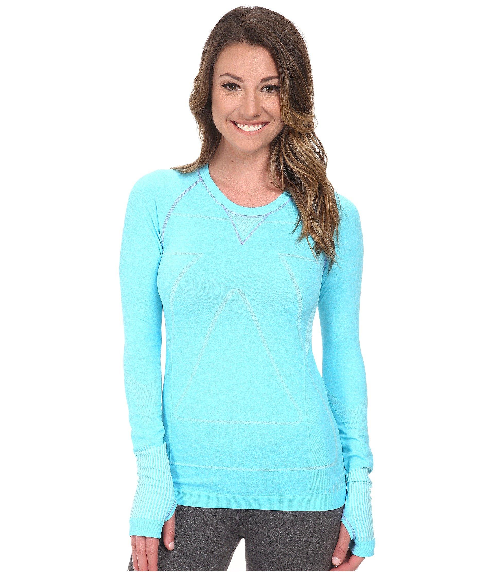 Aqua Sleeve Seamless Long Run Heather Zensah Shirt xTB0w1Ygq