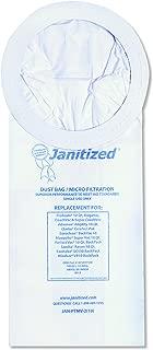 Janitized JANPTMV2 Vacuum Filter Bags Designed to Fit ProTeam 10 Qt. Super Coach/MegaVac (Case of 100)