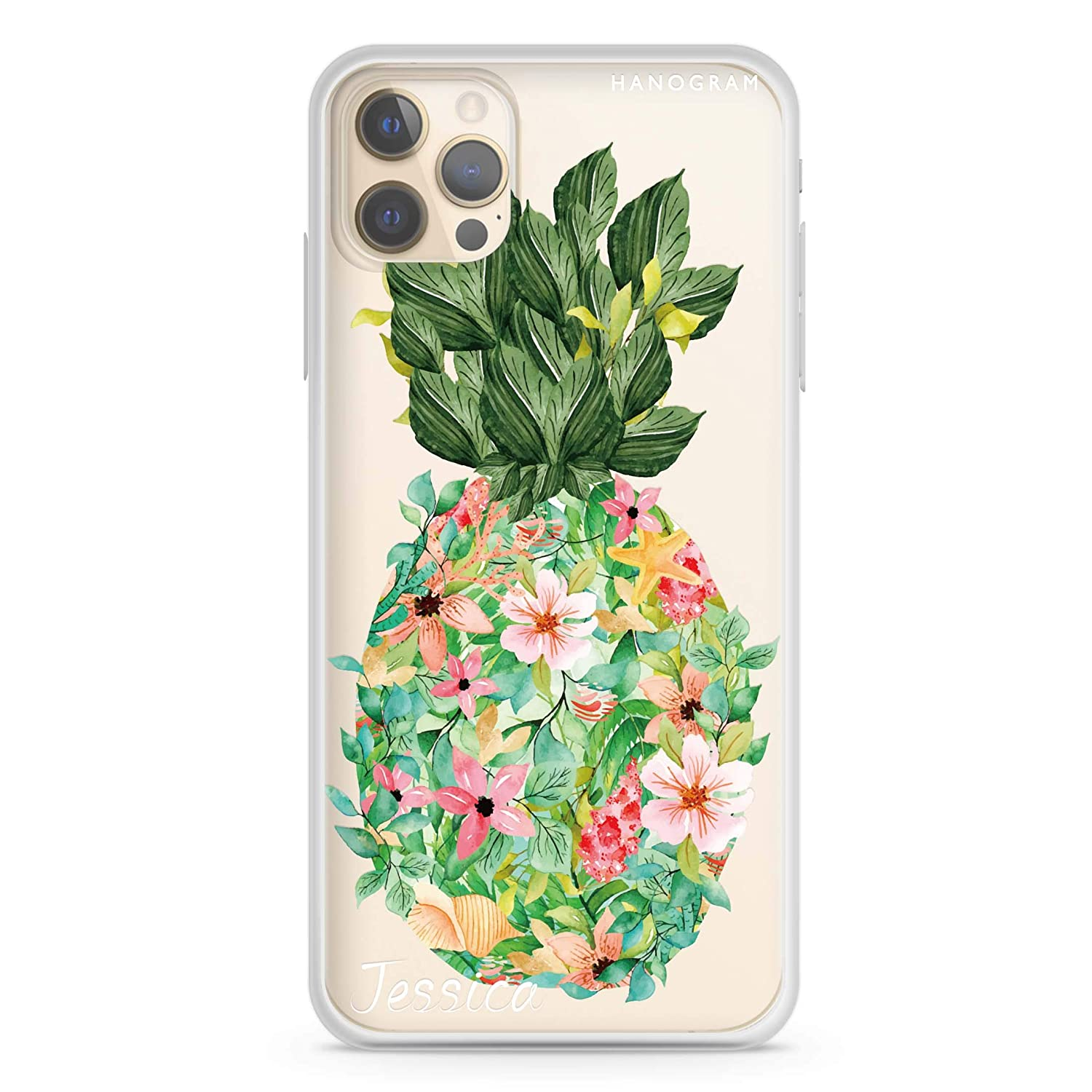 Floral Pineapple iPhone 12 Outstanding Pro i Max Case Soft Clear 40% OFF Cheap Sale
