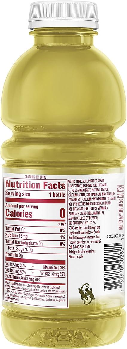 SoBe Lifewater 0 calorías, botellas de 20 onzas (paquete de ...