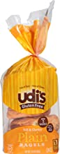 Udi's Gluten Free Bagels, Super Soft and Chewy, Plain, 5 count bag, (Frozen)