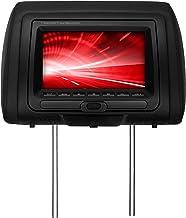 BOSS Audio Systems HIR70BGTA 7 Inch Headrest Car Monitor, DVD CD MP3 WMA USB SD AV, Black Grey Tan Interchangeable Pillow Covers, Wireless Remote Control