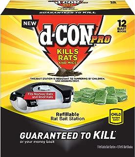 D-con Rat Poison Bait Station, 1 Bait Station + 12 Refills