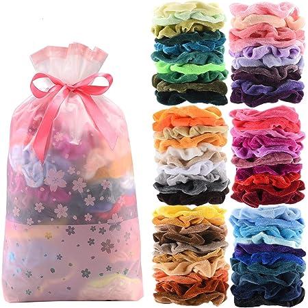 scrunchies floral  hair gift for girls hair accessory gift hair gift for women hair scrunchie pack retro hair scrunchies