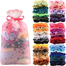 60 Pcs Premium Velvet Hair Scrunchies Hair Bands for Women or Girls Hair Accessories with Gift Bag,Great Gift for Holiday ...