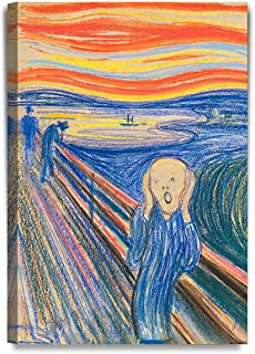 DECORARTS - The Scream by Edvard Munch, Giclee Canvas Print Reproductions for Home Wall Decor. 20x30 x1.5