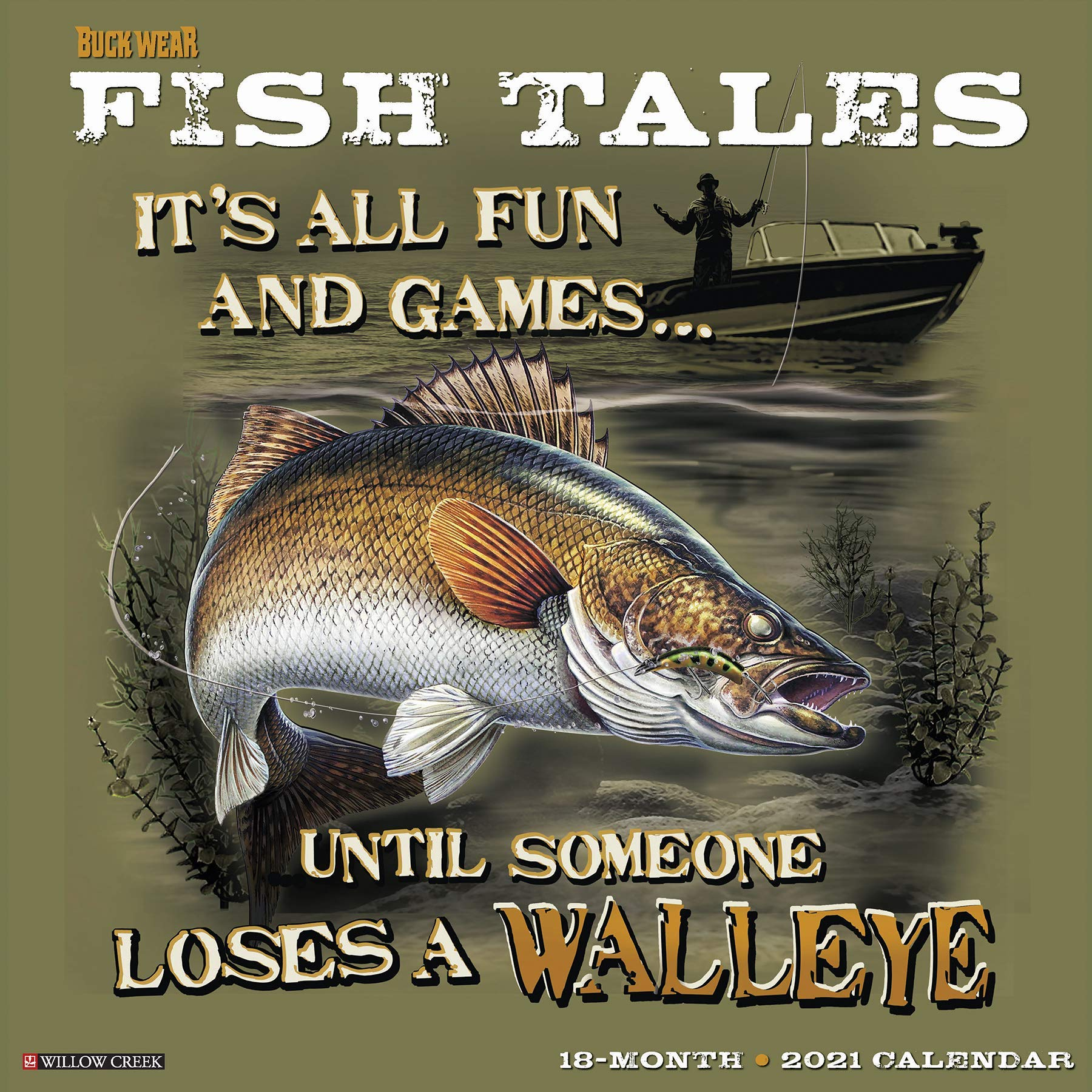 Image OfBuck Wear's Fishing Tales 2021 Wall Calendar