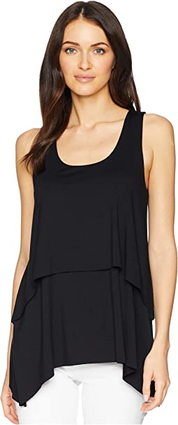 Raw Hem Layered Tank Top