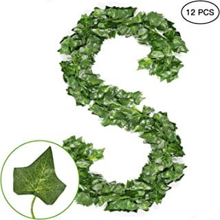 Artificial Ivy Vine Leaf Plants Fake Ivy Vines Faux Ivy Vines Plants Hanging Ivy Garland Foliage Flowers for Home Office Party Wedding Garden Indoor and Outdoor Decor
