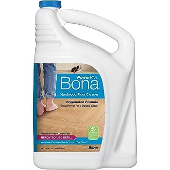 Bona Hardwood Floor Cleaner Refill, 128 oz, PowerPlus