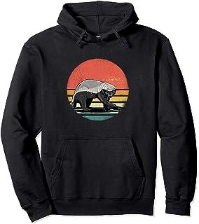 80s Retro Vintage Honey Badger Shirt Animal Lover Sweat à Capuche