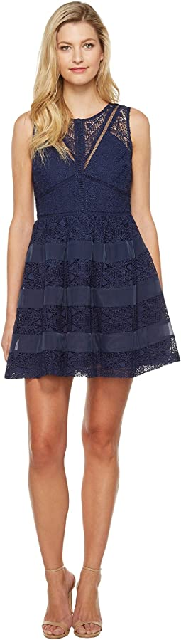 Marissa Woven Lace Fit and Flare