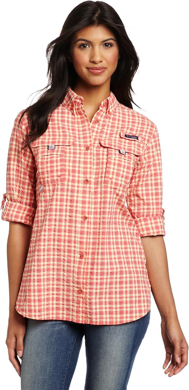 Columbia Women's Super 定番キャンバス Bahama Shirt ストアー Sleeve Long