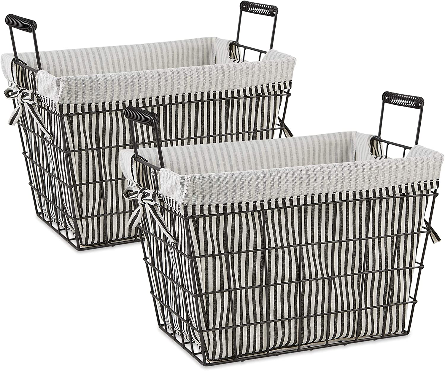 Weekly Bargain update DII Farmhouse Office Collection Metal Storage Basket Str Lined