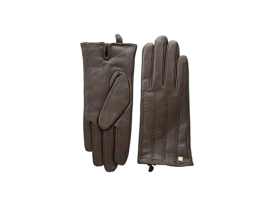 LAUREN Ralph Lauren Modern Hand Crafted Points Touch Gloves (Brown) Extreme Cold Weather Gloves
