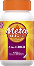 Metamucil Fiber, 3-in-1 Psyllium Capsule Fiber Supplement, 160 ct Capsules (Packaging May Vary)