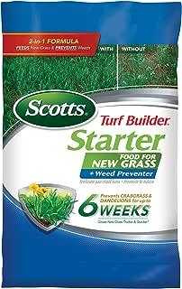 Scotts 23201 New Grass Plus Weed Preventer Turf Builder Starter Food, 10M