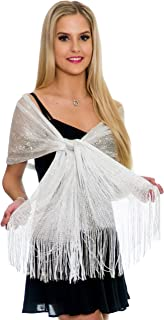 Shawls and Wraps for Evening Dresses, Wedding Shawl Wrap Fringes Scarf for Women Petal Rose