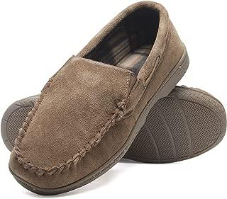 Mens Memory Foam Suede Slip On Indoor Outdoor Venetian Moccasin Slipper Shoe