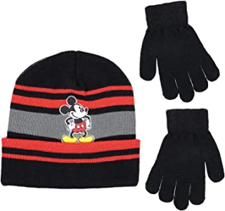 55ed338a33fad Disney Mickey Mouse Boys Beanie Knit Winter Hat And Mitten Set - Toddler  Size  4015
