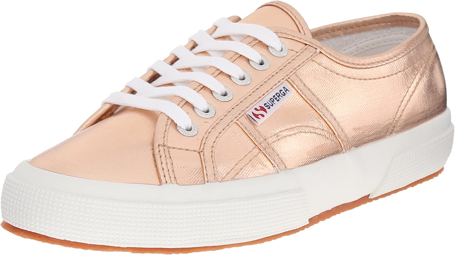 Superga Women's 2750 Cotmetu Fashion Sneaker, pink gold, 39.5 EU 8.5 M US