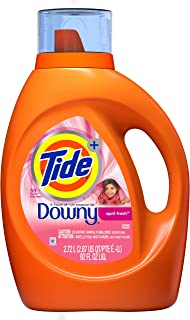 Tide Plus Downy April Fresh Scent Liquid Laundry Detergent, 92 oz, 59 Loads (Packaging May Vary)