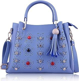 Fiesto fashion Women's Leather Handbag (WP1118017, Blue)
