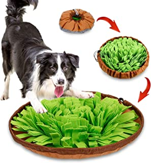 Kingtree Snuffle Mat for Dog Puzzle Toys Pet Feeding Mat Sniffing Training Bowl for Cats Dogs, Durable Interactive Game fo...