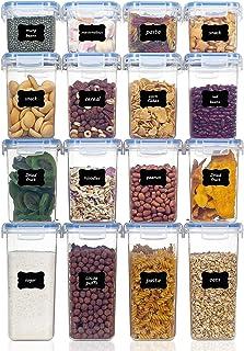 Vtopmart 16 Stück Vorratsdosen Set,Müsli Schüttdose & Frischhaltedosen, BPA frei Kunststoff Vorratsdosen luftdicht, 24 Eti...