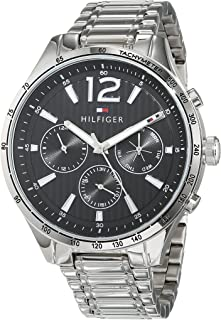 Tommy Hilfiger Men'S Black Dial Stainless Steel Watch - 1791469