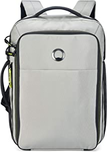 DELSEY Paris Daily's Two Compartment Laptop Backpack, Light Gray, 15.6 Inch Sleeve